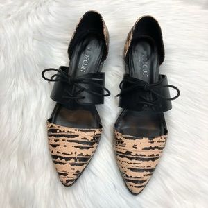 Shoe Cult Printed Lace Up Flats